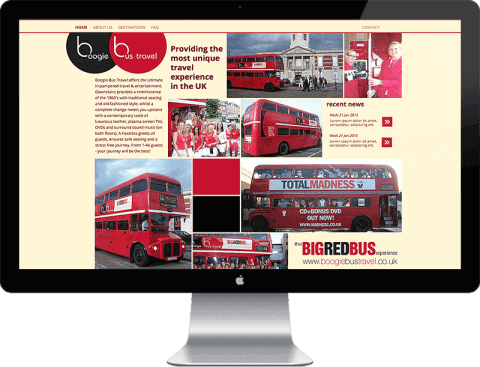 Web Design for hospitality company, Chichester