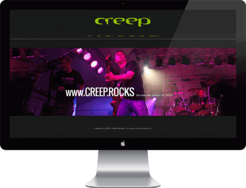 Web Design for rock band, Chichester