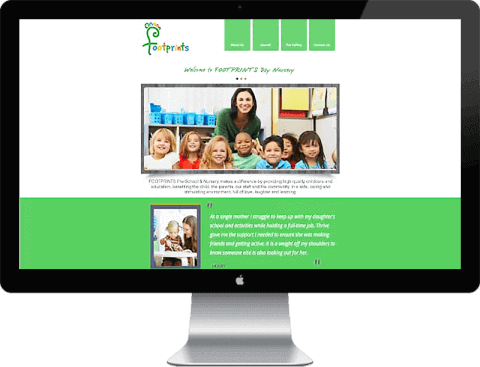 Web Design for nursery, Chichester