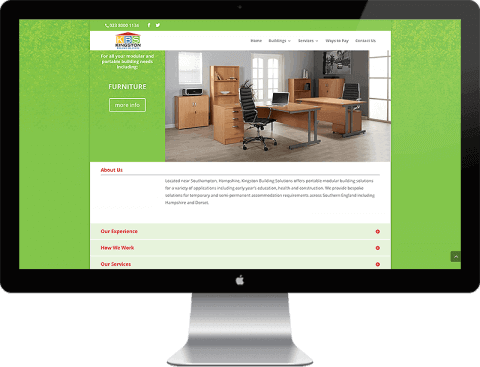 Web Design for modular buildings company, Southampton, Hampshire