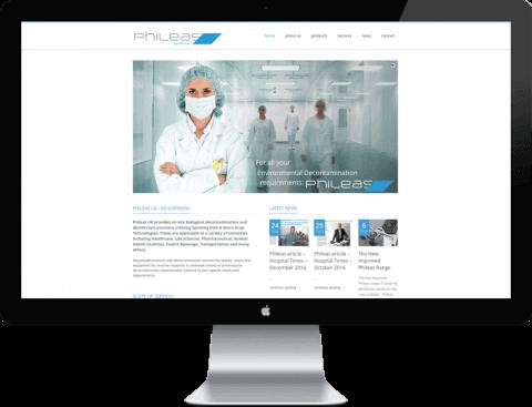 Web Design for decontamination company, Chichester