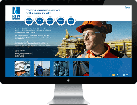 Web Design for marine engineering company, Chichester