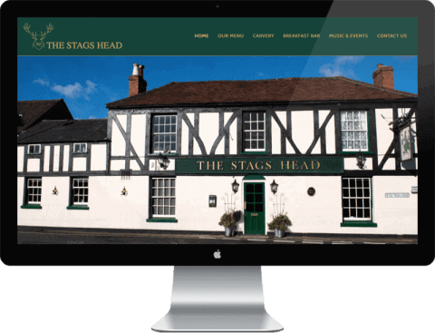 Web Design for The Stags Head, Westbourne, Emsworth, Hampshire