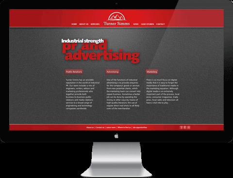 Web Design for PR company, Chichester