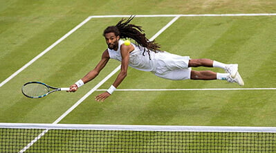 Dustin Brown at Wimbledon - Photography portfolio, SemiStone Media, Chichester, West Sussex
