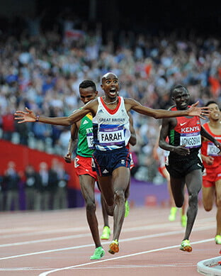 Mo Foster wins 10k gold medal at 2012 olympics - Photography portfolio, SemiStone Media, Chichester, West Sussex