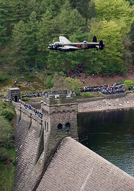 Lancaster bomber at Derwent Dam in Derbyshire - Photography portfolio, SemiStone Media, Chichester, West Sussex